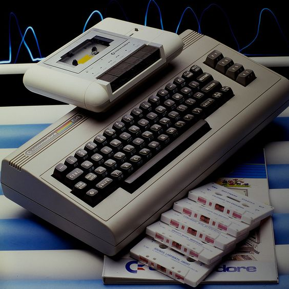 My first computer: Commodore 64. (and yes, I had the slow, slow, slow tape drive--the horror, the horror).: