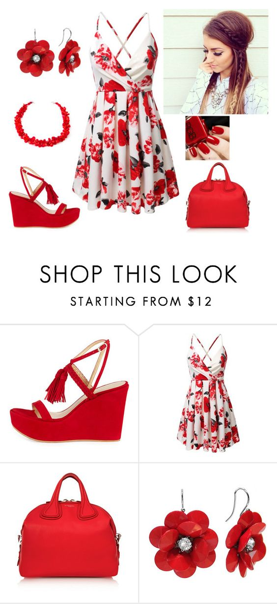 """""""Flower Girl"""" by paoladouka ❤ liked on Polyvore featuring Stuart Weitzman and Givenchy"""