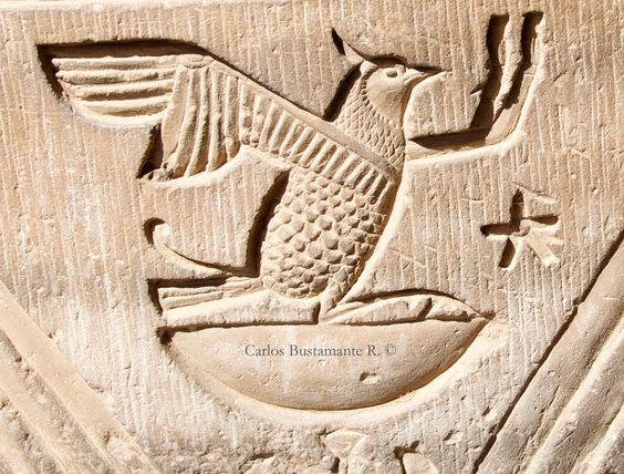 Horus, son of Isis and Osiris, Temple of Kom Ombo, Aswan, Egypt