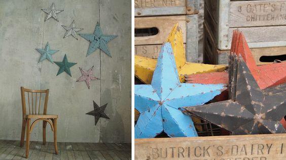 étoiles amish vintage