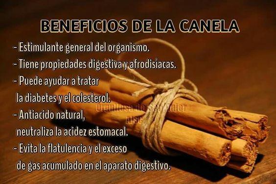 Beneficios de la Canela. | Salud | Pinterest | Canela
