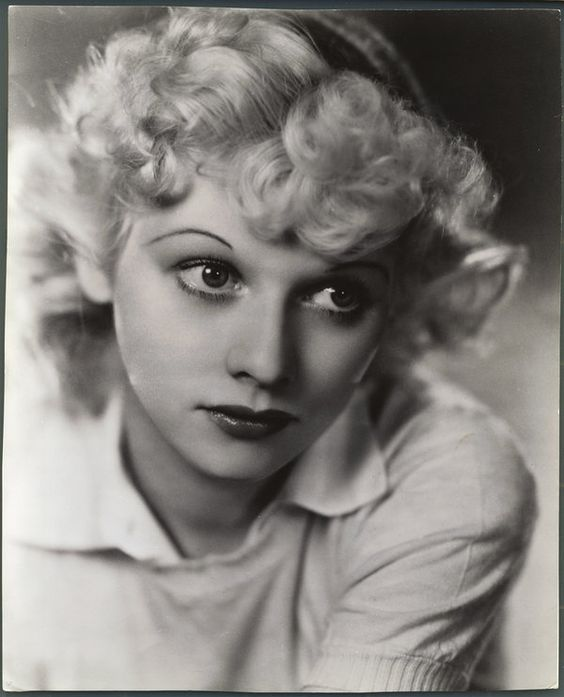 An early portrait of a blonde Lucille Ball. (Undated)