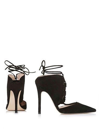 Shoes | Heels & Pumps | Gillian Suede Ghillie Pumps | Hudson's Bay
