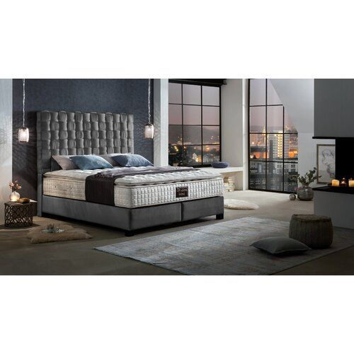 Canora Grey Boxspringbett Jaycee Mit Topper Grey Furniture Bed Springs