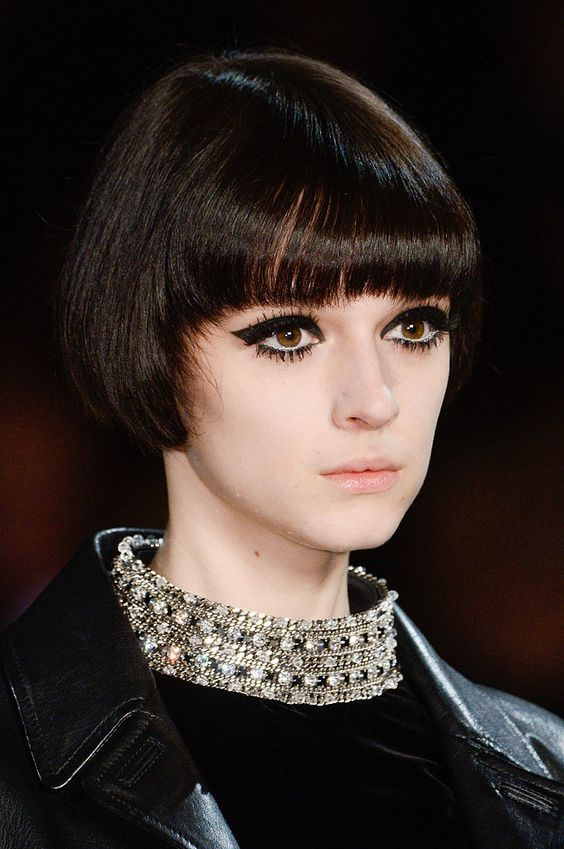 We're definitely getting a '70s vibe from the Saint Laurent Fall 2014 #ParisFashionWeek #PFW