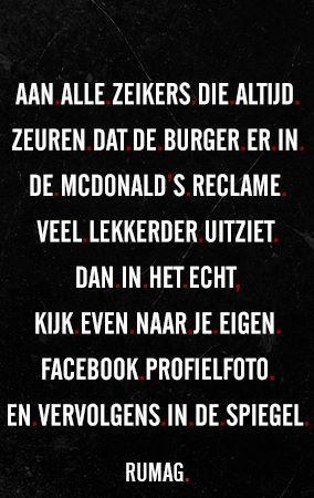 En zo is het!   facebook   McDonalds