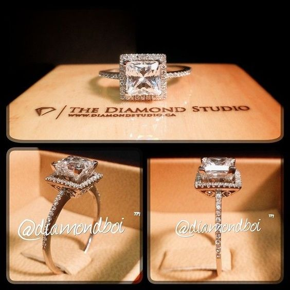 This plus non-halo side stones = perfection!