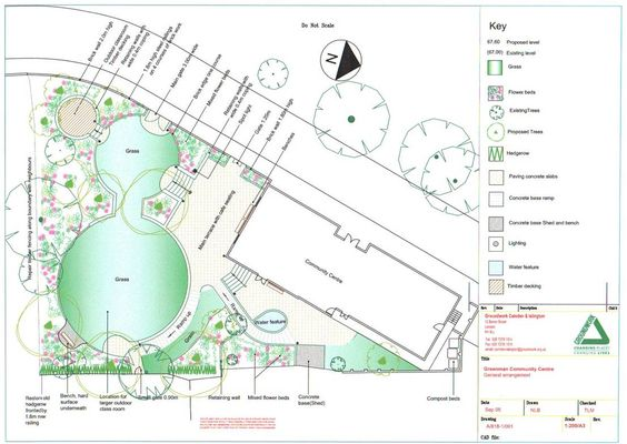 pair of differently sized lawns enhance a garden design for a triangularly shaped plot geometric lawns pinterest gardens