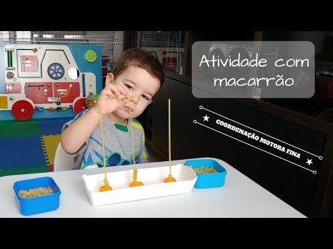 ATIVIDADE COM MACARRÃO - COORDENAÇÃO MOTORA FINA - YouTube ...
