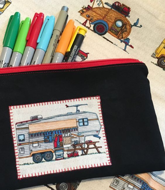Camper Zipper Bag 5th Wheel Travel Trailer by MakingSomethingHappy