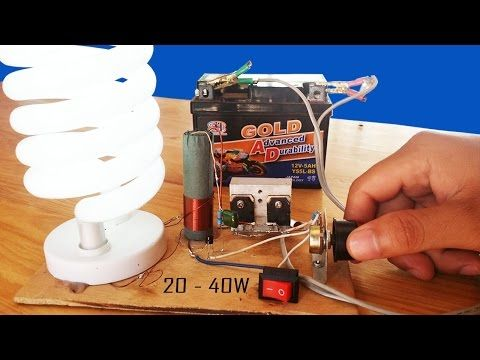 How To Make Fluorescent Lamp Adjustable Inverter Circuit 12v Dc 20w 40w Youtube Fluorescent Lamp Circuit Power Supply Circuit