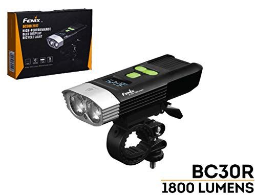 Max 1800 Lumens Cycling MTB Fenix BC30R Bike Light with OLED Display