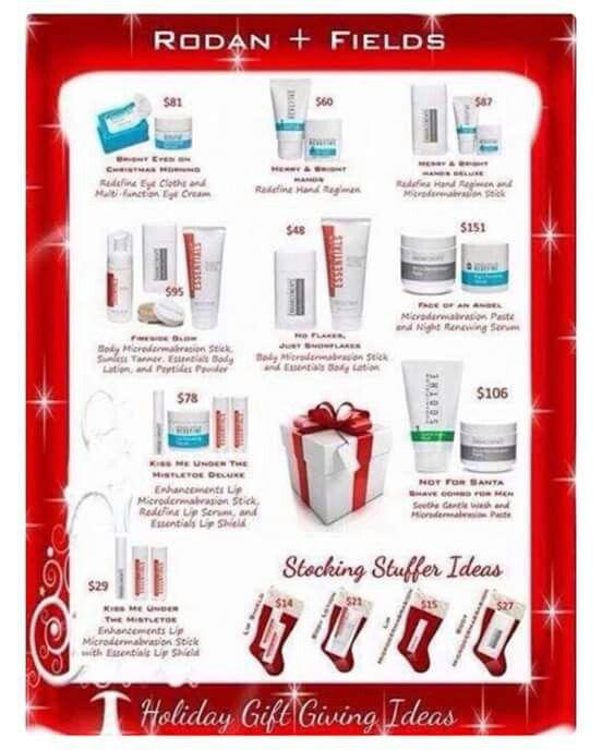 Stocking stuffers? Christmas gifts? Check out Rodan + Fields ...