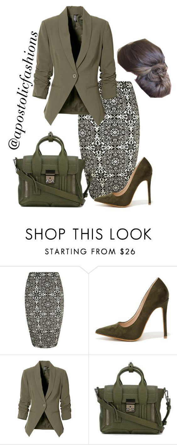 """Apostolic Fashions #1098"" by apostolicfashions on Polyvore featuring WearAll, Shoe Republic LA, 3.1 Phillip Lim, women's clothing, women, female, woman, misses and juniors"