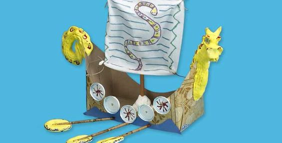 how to make a viking ship for kids