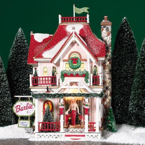 A Christmas Village 2021 Barbie Boutique In 2021 Christmas Village Houses Christmas Village Display Christmas Villages