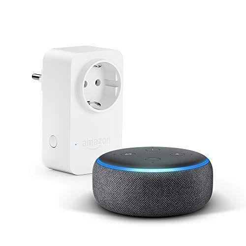Das Neue Echo Dot 3 Gen Anthrazit Stoff Amazon Smart Plug Wlan Steckdose Funktionert Mit Alexa Wlan Steckdose