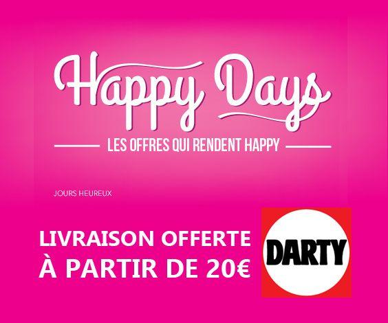 Chaque édition des Happy Days de Darty propose une large sélection de bons plans et ventes flash avec des réductions importantes sur presque tous les univers.
