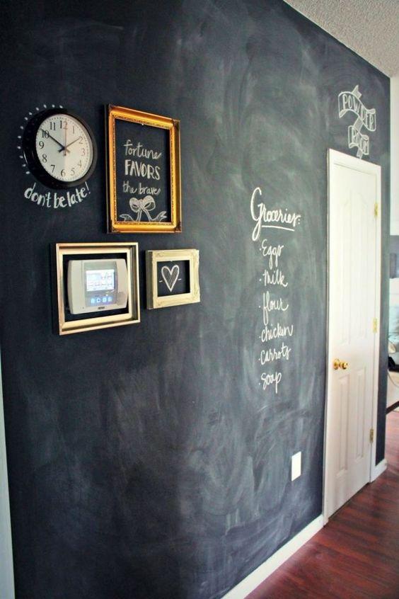 Flur mit kreativer Wandgestaltung und jede menge Platz für Notizen