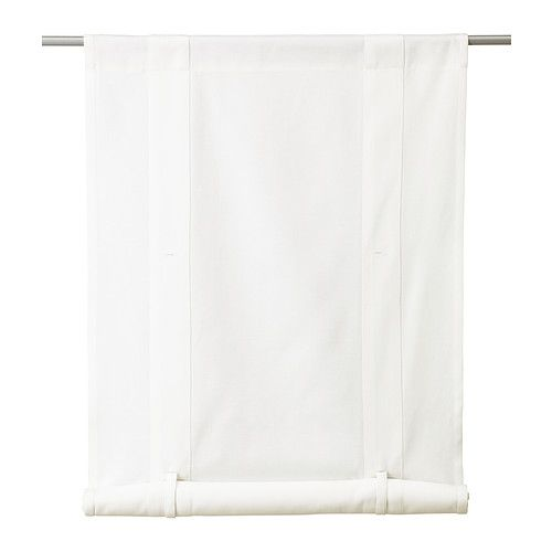Curtain rods window and fabrics on pinterest for Roll up curtains ikea