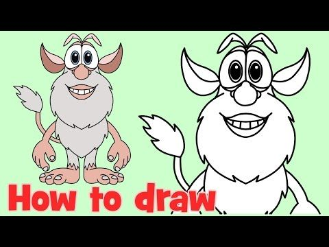 How To Draw Cartoons Booba Step By Step Drawing Youtube In 2020 Cartoon Drawings Step By Step Drawing Drawings