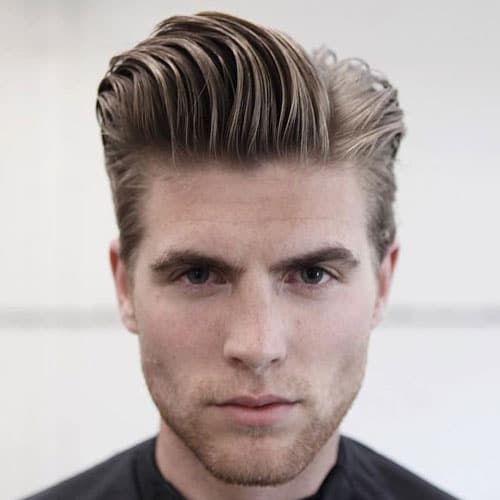 Long Pompadour Slicked Back Hair Mens Hairstyles Mens Hairstyles Pompadour