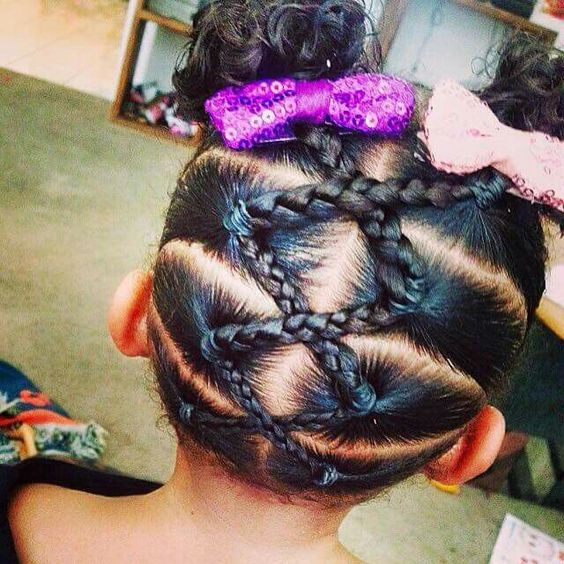 Important not to get the last one too high on her head. It looks weird. Make the...