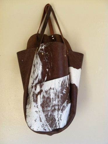 Hawke and Carry — Calligraphic Leather Bag