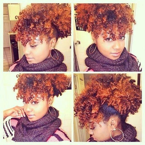 soins de cheveux naturels chignon naturel la la la color naturalhairstyles hairgoals teamnatural natural hair bangs curly natural hairstyle - Soin Naturel Cheveux Colors
