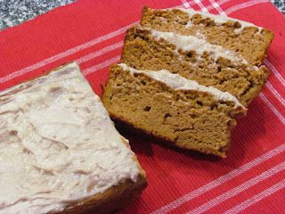 Peace, Love, and Low Carb: Low Carb Pumpkin Loaf with Cinnamon Cream Cheese Frosting