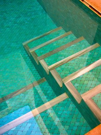 Creative swimming pool tile designs