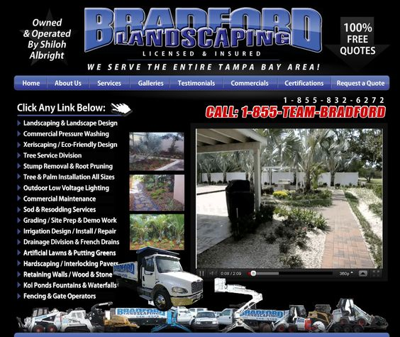 www.BradfordLandscaping.com    Bradford hired us to develop a high-level SEO strategy utilizing 40 domains and over 1500 keywords. We have delivered a completely to-spec project that brings in quality leads every day, they love us at ProDeveloper!