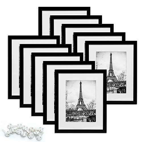 Upsimples 8x10 Picture Frame Set Of 10 Display Pictures 5x7 With Mat Or 8x10 Wit In 2020 8x10 Picture Frames Multi Photos Frame Picture Frame Sets