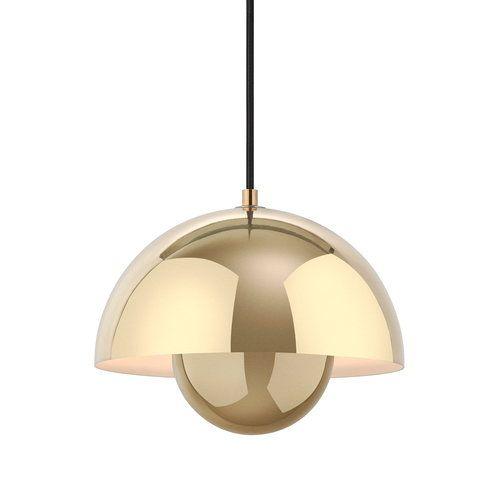 Tradition Flowerpot Vp1 Pendant Polished Brass Flowerpot Vp1 Pendant Flowerpot Vp1 Round Lamp