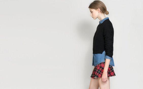 La falda de tartán de Zara con volantes promete ser uno de sus éxitos de la temporada