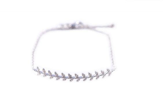 Bracelet Laurier | Joliedemoiselle.fr | 28,90€