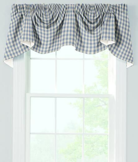 Curtains Ideas austrian valances curtains : Cabin Check Lined Austrian Valance - Country Curtains® | Guest Bed ...