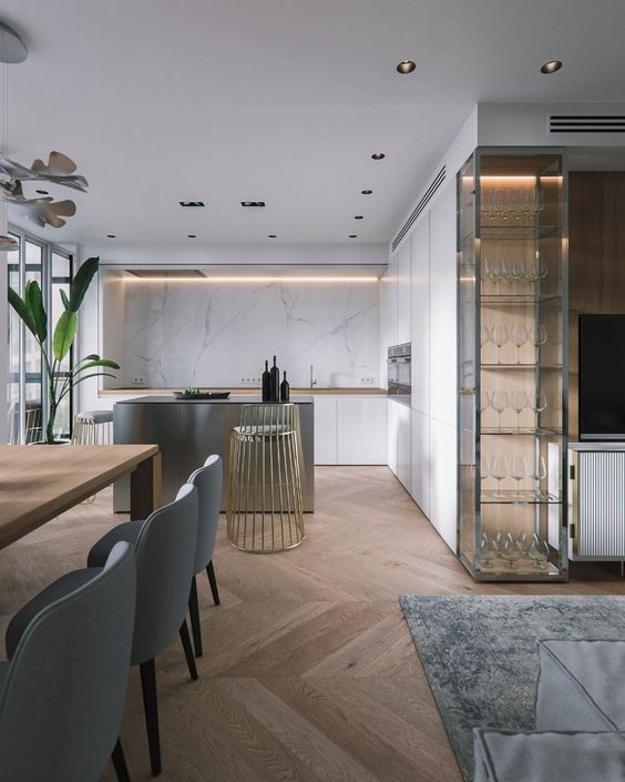 Pin By Satya Lu On Living Room Industrial Interior Design Minimalist Kitchen Interior Design