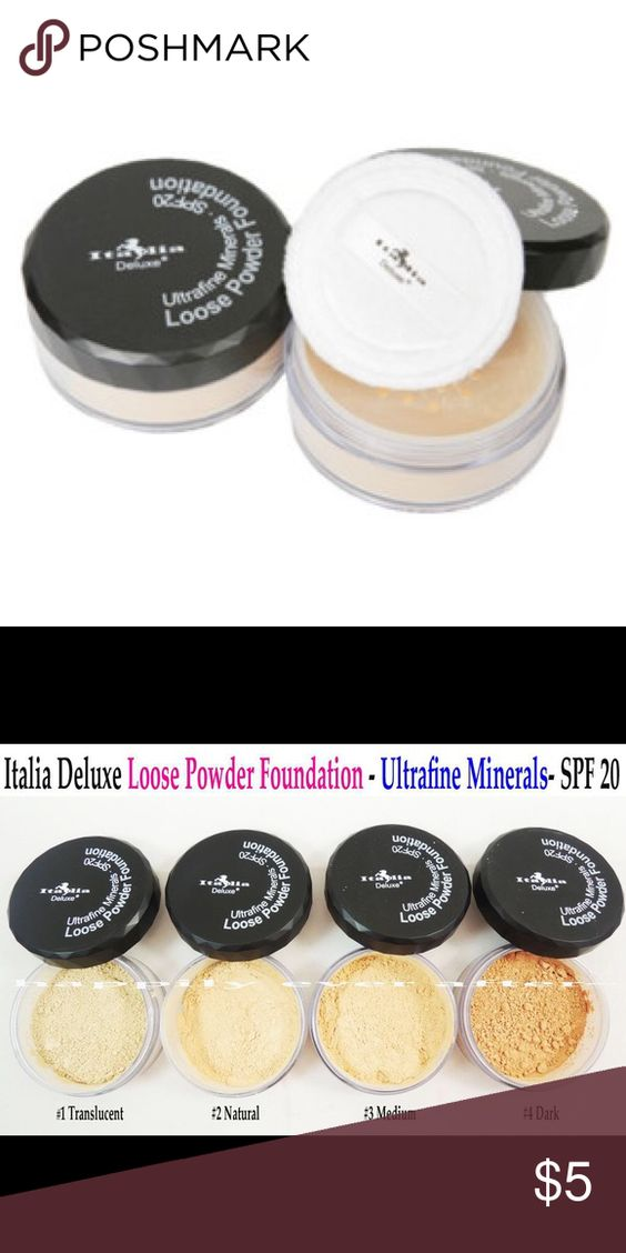 Natural loose Powder! New seal by Italia color natural! Comes with white sponge! Has SPF20! Italia Makeup Face Powder