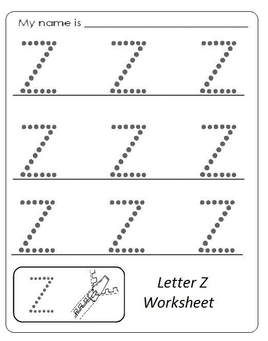 Uppercase Letter Z Worksheet Trace Line Jpg 522 664 Pixels Printable Alphabet Worksheets Letter Z Alphabet Worksheets Kindergarten