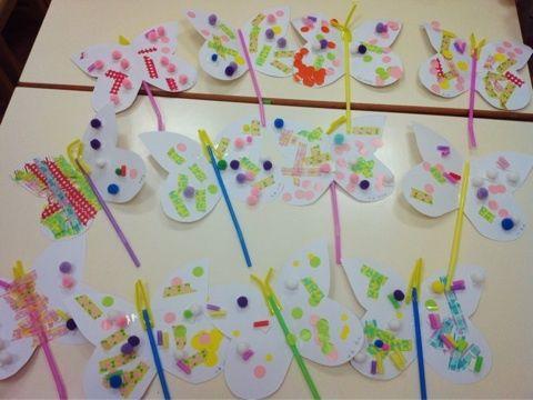 台北日本語幼稚園4月工作 ちょうちょ 幼稚園のアート キッズ