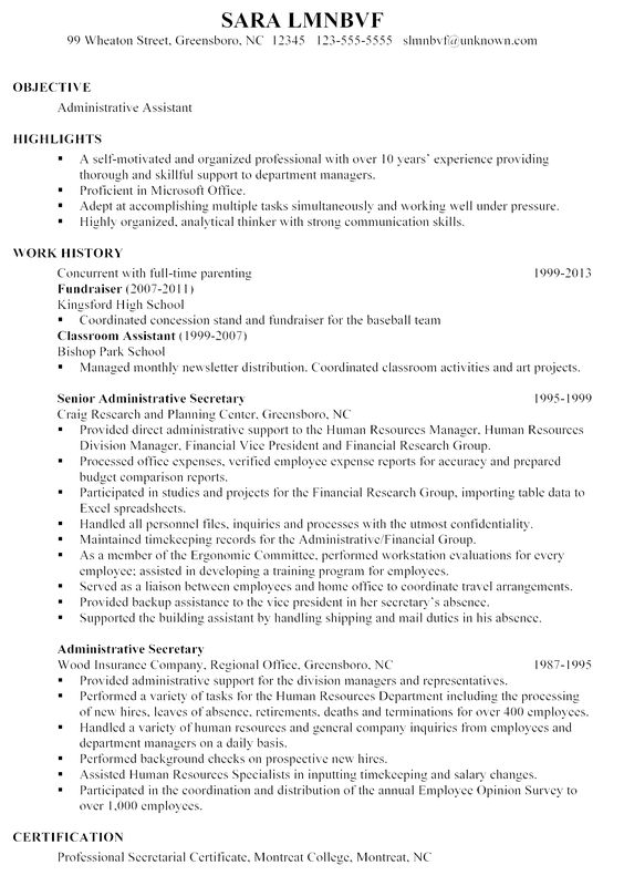 resume example writing sample administrative assistant examples - business consultant resume sample
