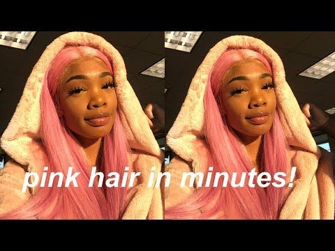 How I Dyed My Hair Pink Using The Watercolor Method Ft