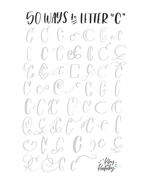 Ways To Letter C  Fonts    Th Calligraphy And