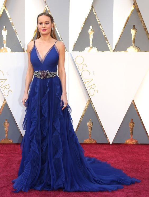 Best Actress winner Brie Larson in Gucci