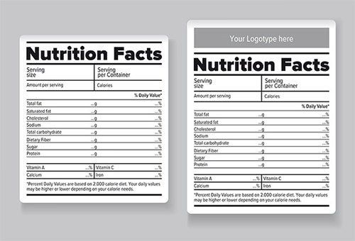 Blank Nutrition Label Template Word Nutrition Label Blank Ftempo Inspiration Nutrition Facts Label Food Label Template Printable Label Templates