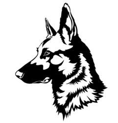 Stock Vector Shepherd Dog Portrait 391086121 Jpg 241 250 Dog Stencil Dog Portraits German Shepherd Tattoo
