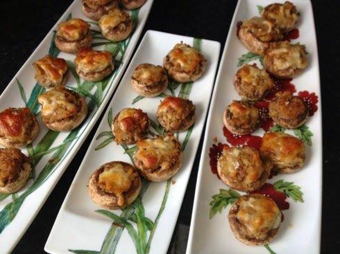 Receitas Gluten-Free : Cogumelos recheados