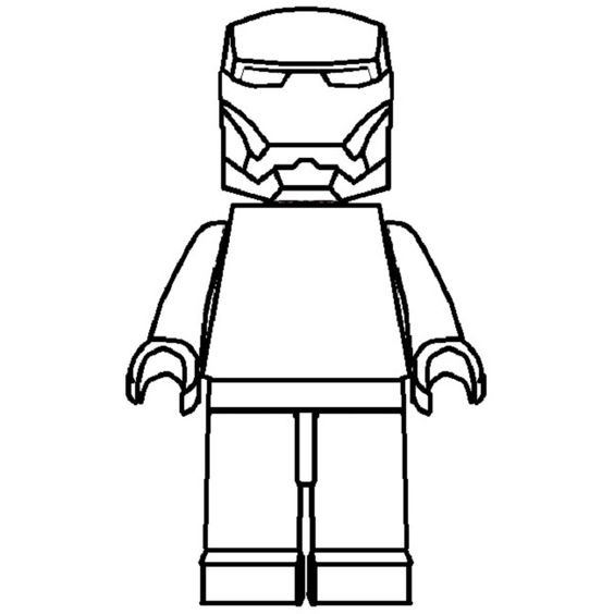lego man coloring pages free - photo#9