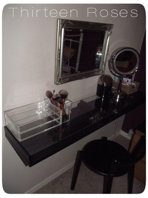 Schminktisch Ikea Malm Schwarz ~ from an ekby alex shelf ikea could i attach ikea vika adlis legs to